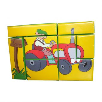 Tractor Puzzle Block