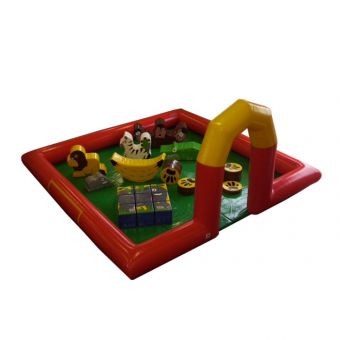 5M X 5M Inflatable Surround With Mats, Fan and Jungle Soft Play Package