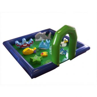 5m x 5m Inflatable Surround With Mats, Fan and Ocean Soft Play Package