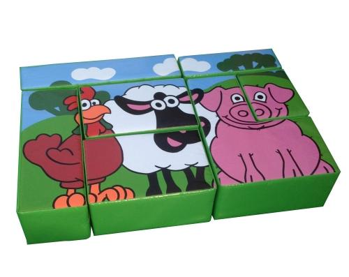 Farm Animals Puzzle Block